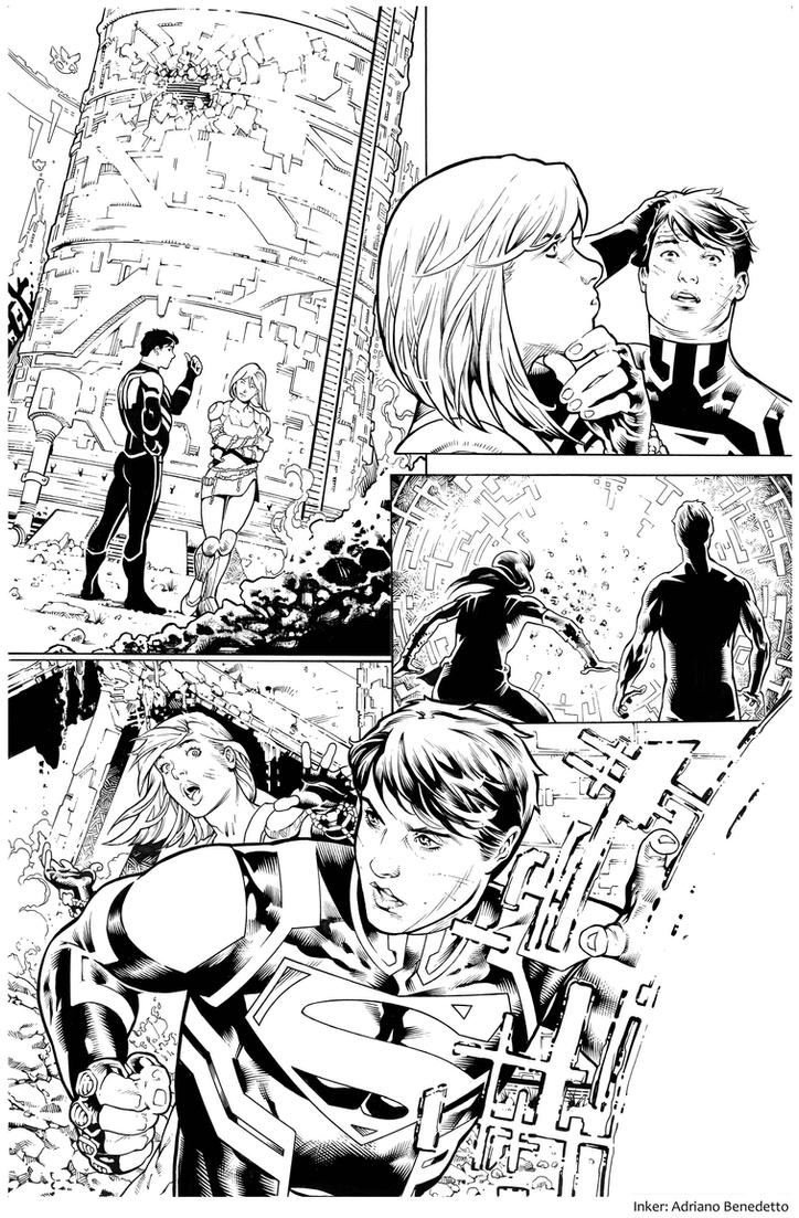 Inks - Supergirl Page by Paulo Siqueira by adr-ben