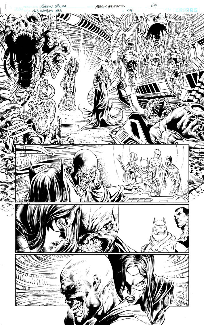 Inks - Earth 2 page by Robson Rocha 3 by adr-ben