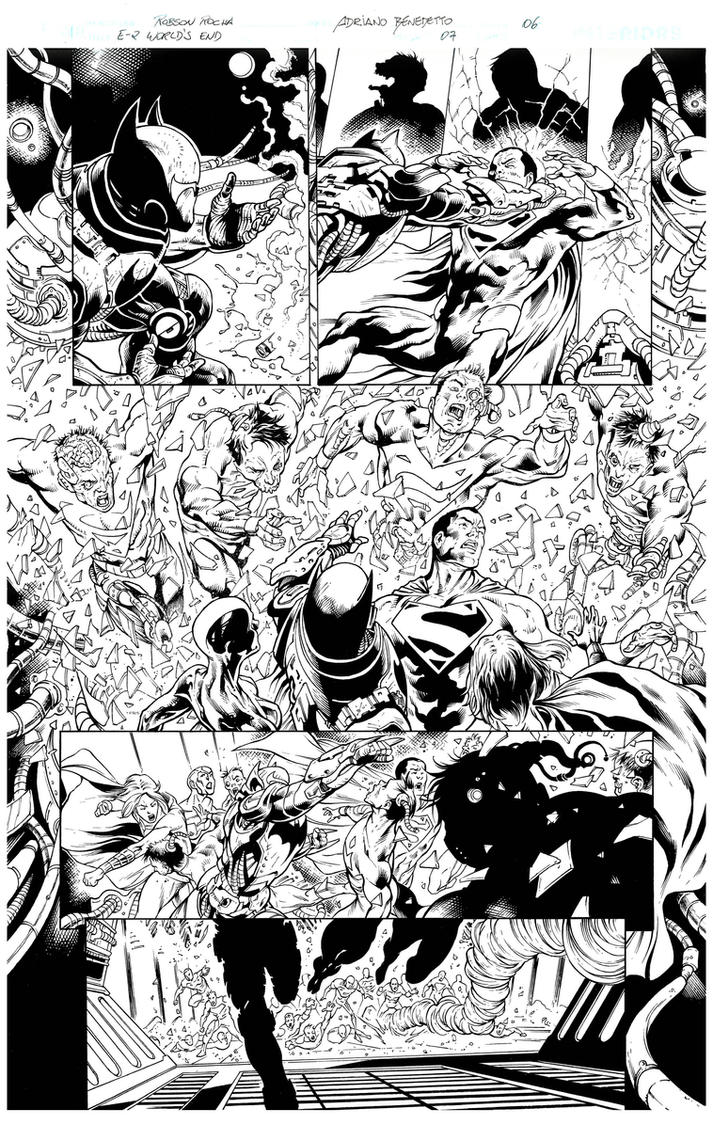 Inks - Earth 2 page by Robson Rocha 2 by adr-ben