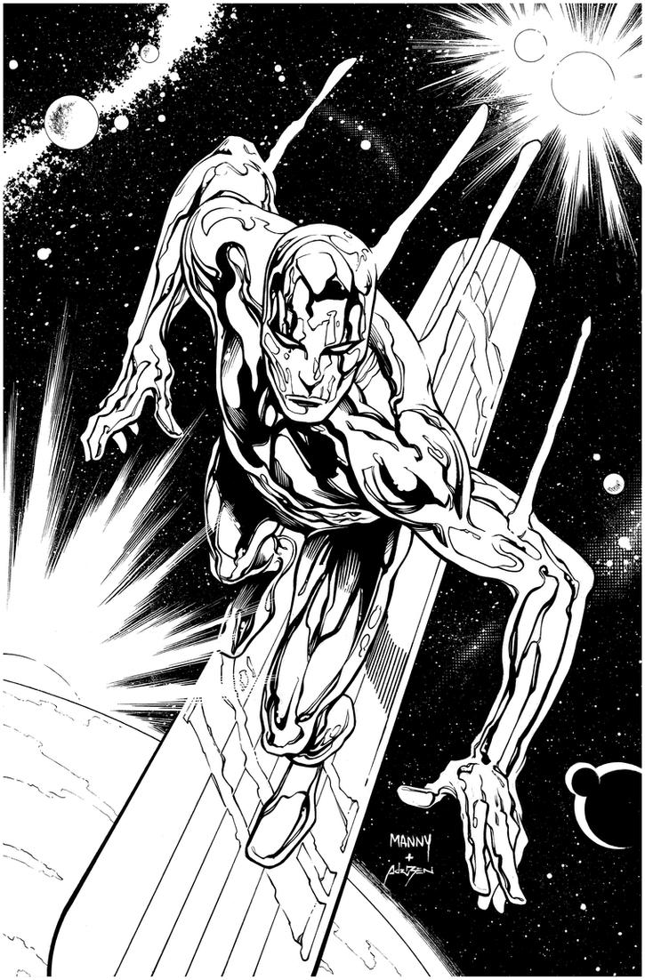 Inks - Silver Surfer by Manny Clark 2 by adr-ben