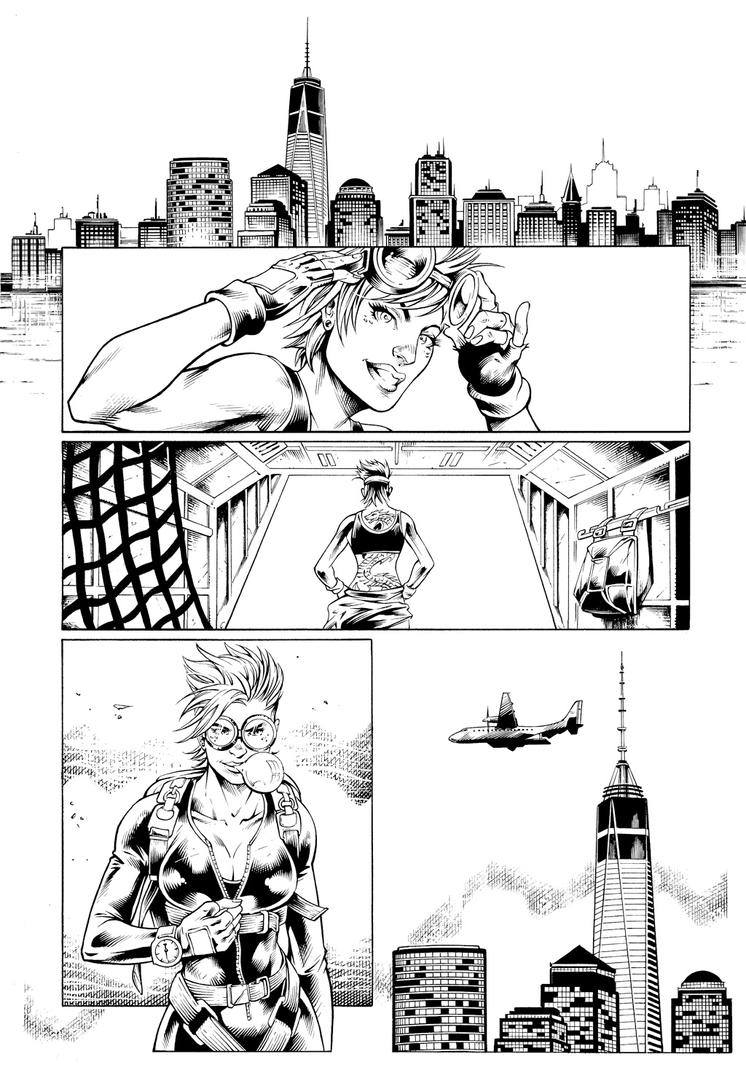 Inks: 321 Fast Comics v2 page by Marcio Abreu by adr-ben