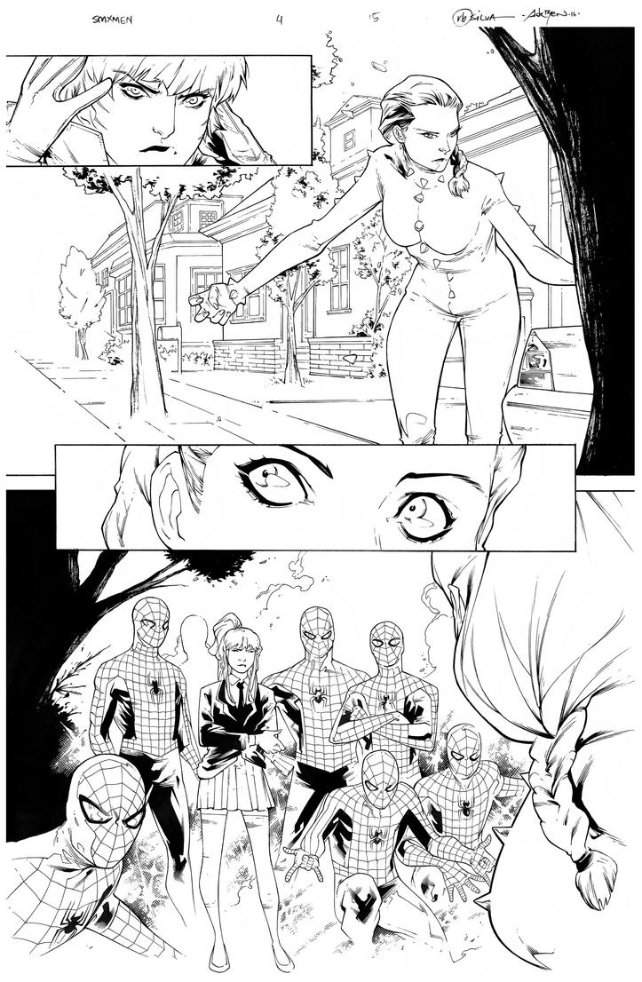 Inks - Spider-Man and X-men4 p15 by RB Silva by adr-ben