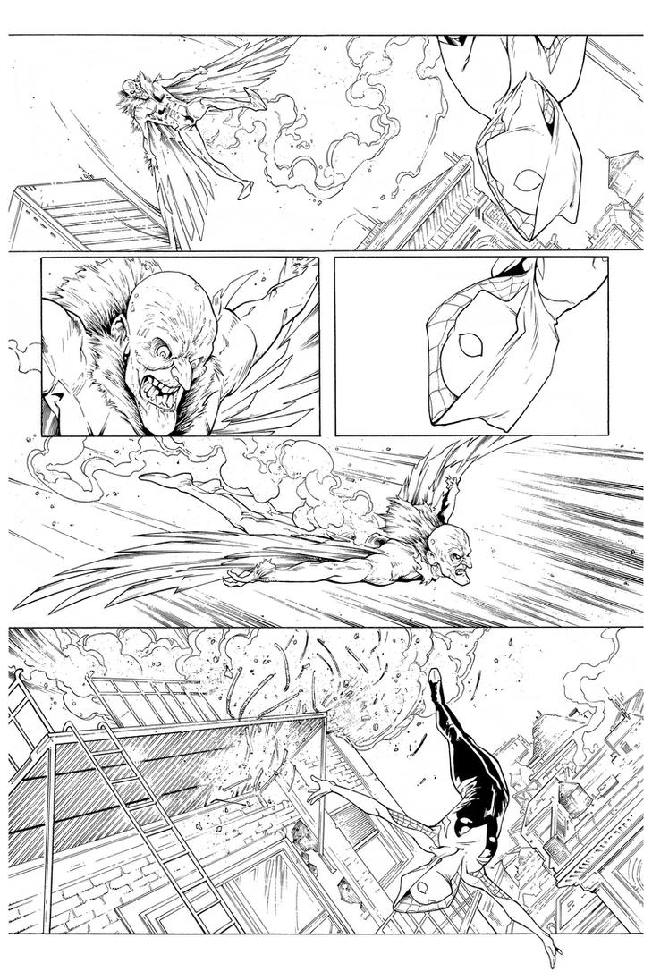 Inks - Spider-Gwen Sample Page2 by Ig Guara by adr-ben