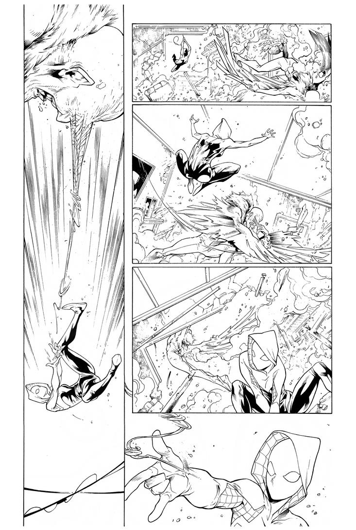 Inks - Spider-Gwen Sample Page3 by Ig Guara by adr-ben