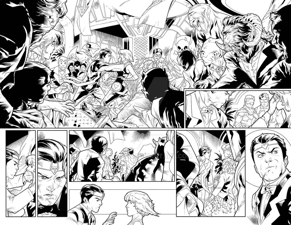 Uncanny Inhumans #17 Pages 2 and 3 by adr-ben