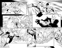 War of the Realms: Land of Giants Pages 16-17 INKS