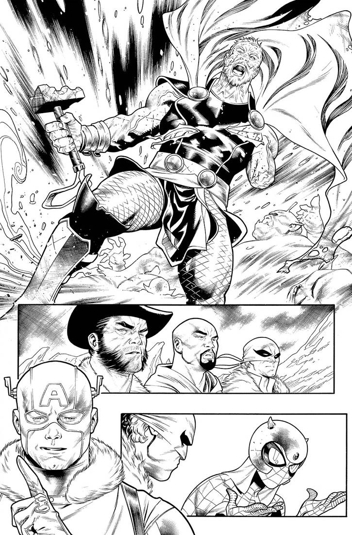 War of the Realms: Land of Giants Page 24 INKS
