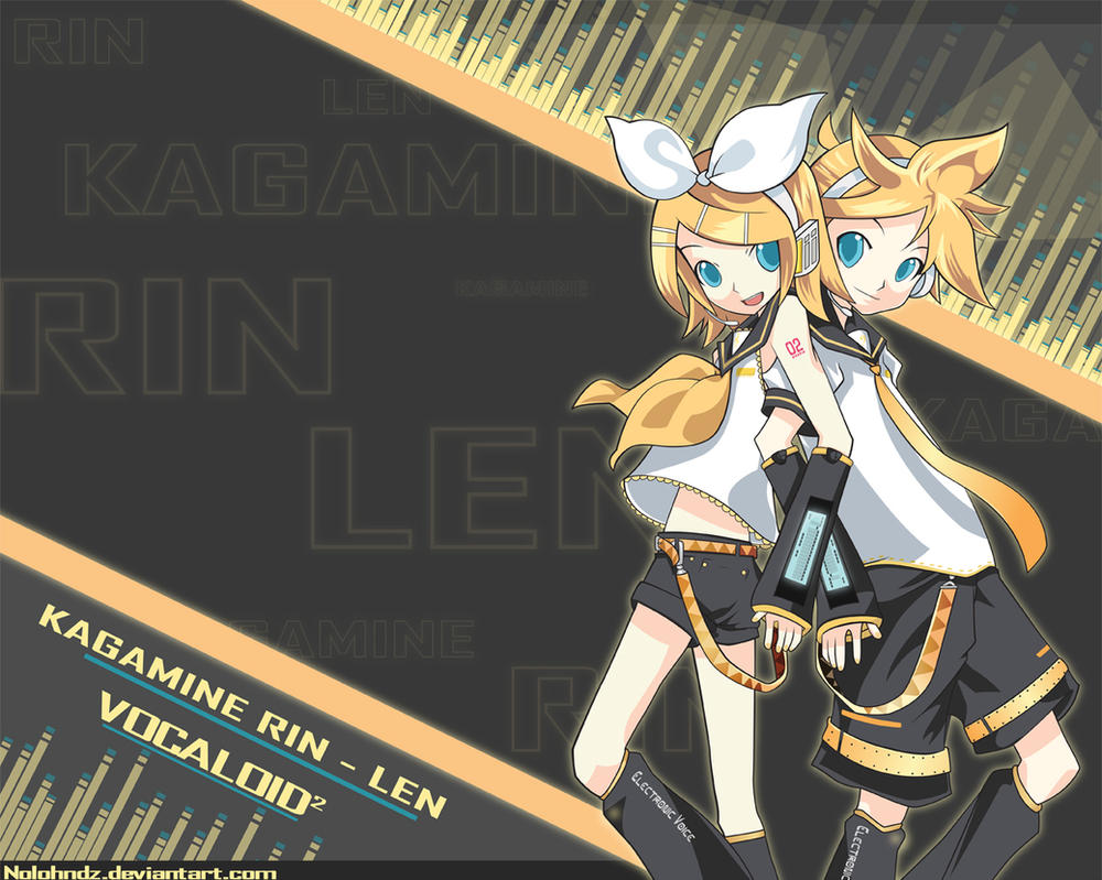 Kagamine Rin Len- Vocaloid 2 by Nolohndz on DeviantArt