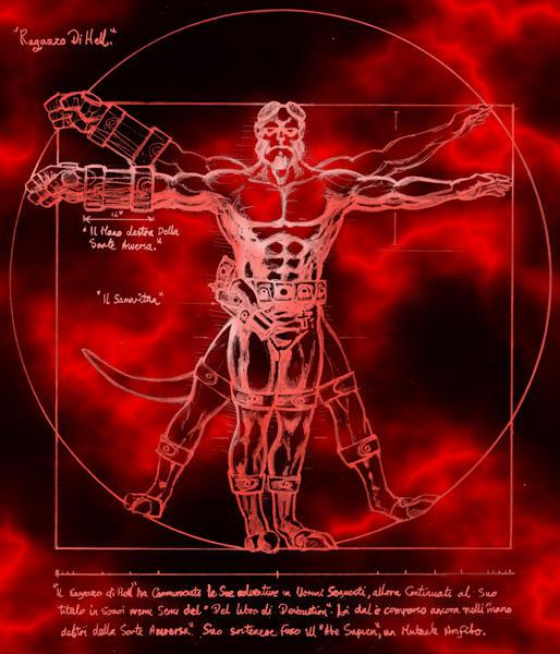 Hellboy Renaissance by wobblyone