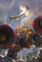 Monkey King Julin God war by fengua-zhong