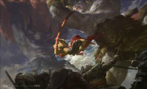 Demon King vs Monkey King by fengua-zhong