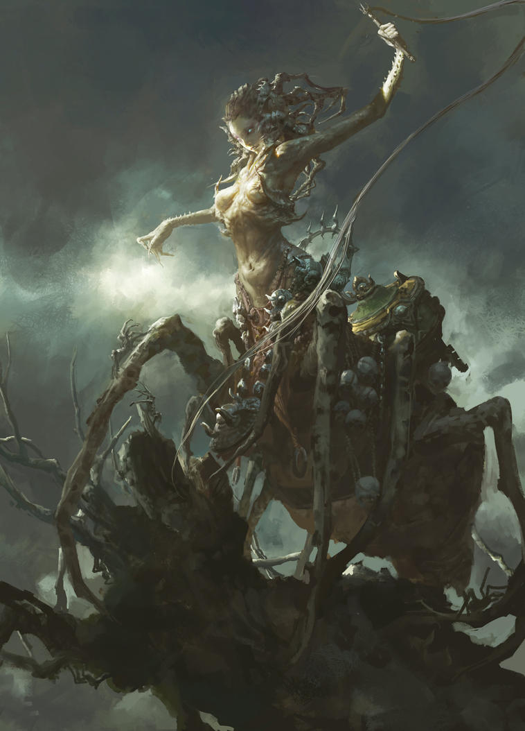WouldTotallyFuck - The spider by Fenghua Zhong (x-post /r/ImaginaryHybrids)