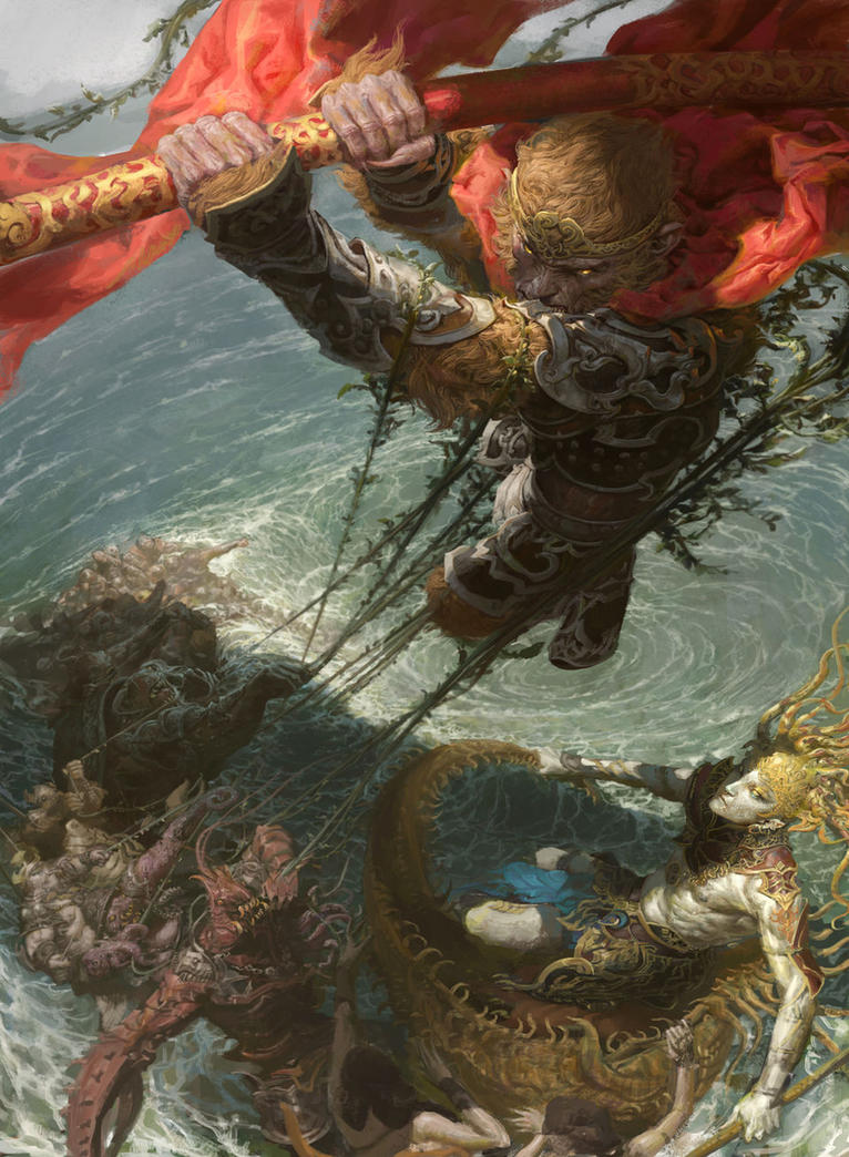 Monkey War by FenghuaArt