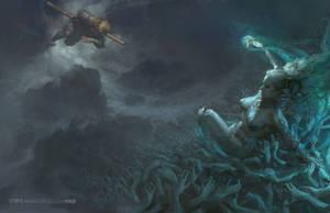 The monkeys Hell by fengua-zhong