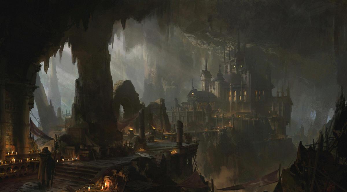 Fantasy dark city