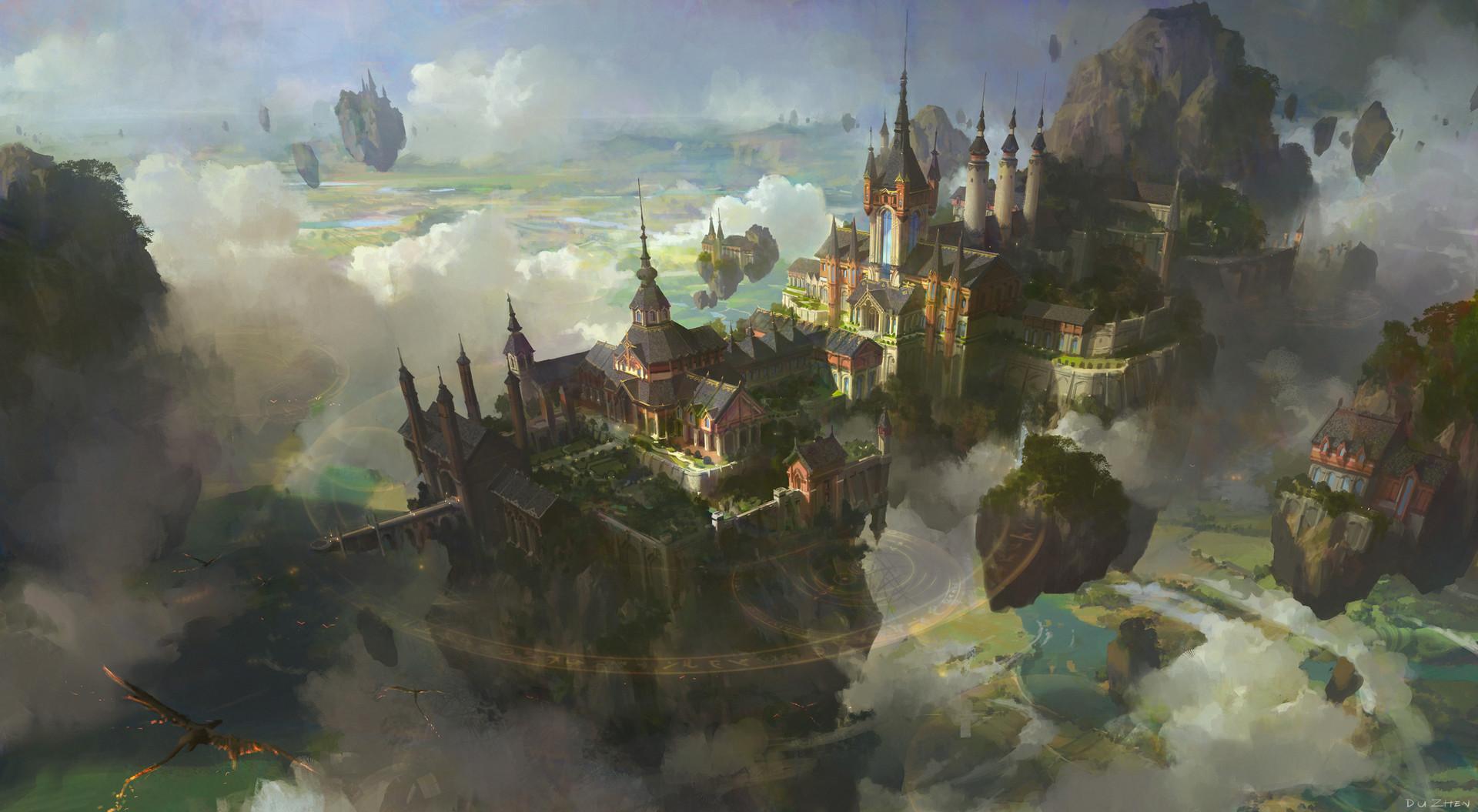 In The Sky by FenghuaArt