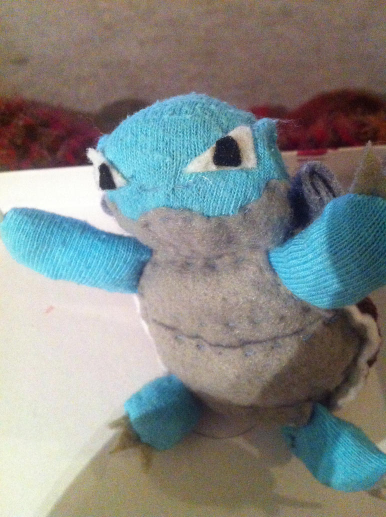 Blastoise Plushie (front) by Music--Box