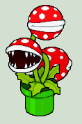 Pixel Art - Pirahna Plant by NeoZ7