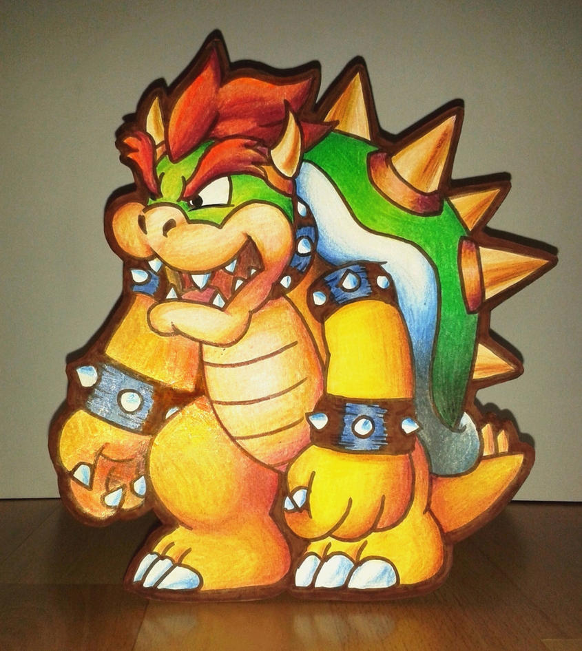 Paper Cutout Bowser by NeoZ7