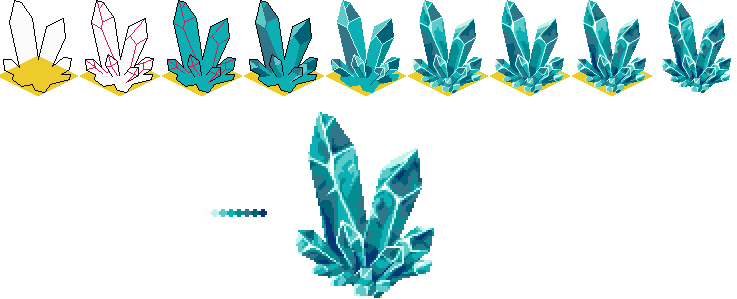 how to draw minimalist crystas