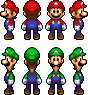 Mario and Luigi Sprites (MLTSC) by NeoZ7