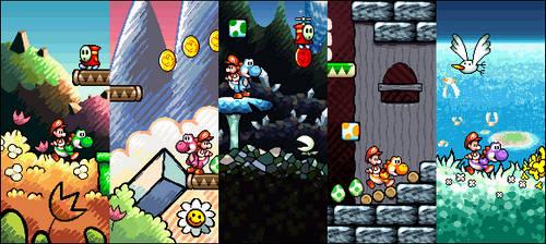 Yoshi's Island Remake (Pixel Art) by NeoZ7