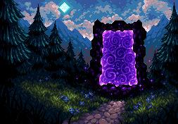 Mysterious Portal - Pixel Art