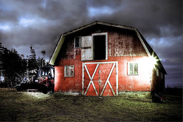 Early Morning Barn
