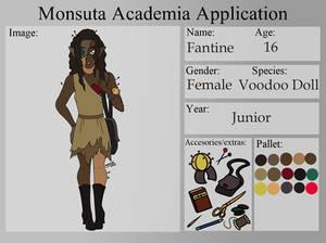 Monsuta Academia Student Application - Fantine