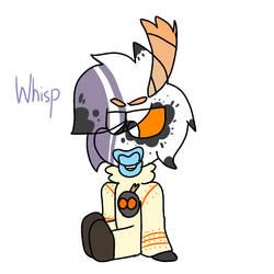 Whisp (Whitty x Ruv fanchild) by CindyMarko14