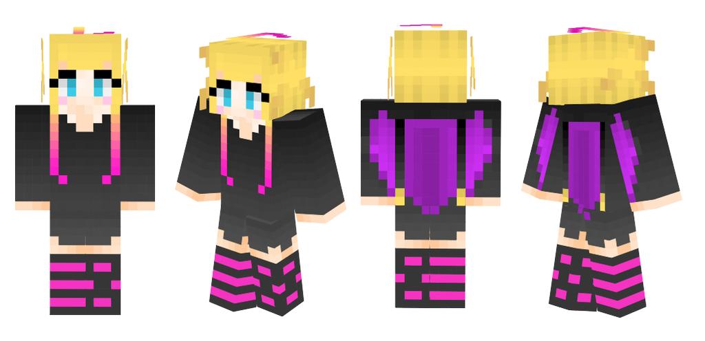 Custom Bat Girl Minecraft Skin By SubplaysMinecraft On DeviantArt - Skin minecraft para la 1 8