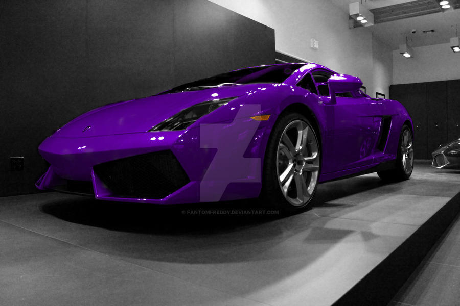 Touch Of Color Purple Lamborghini Edited By Fantomfreddy On