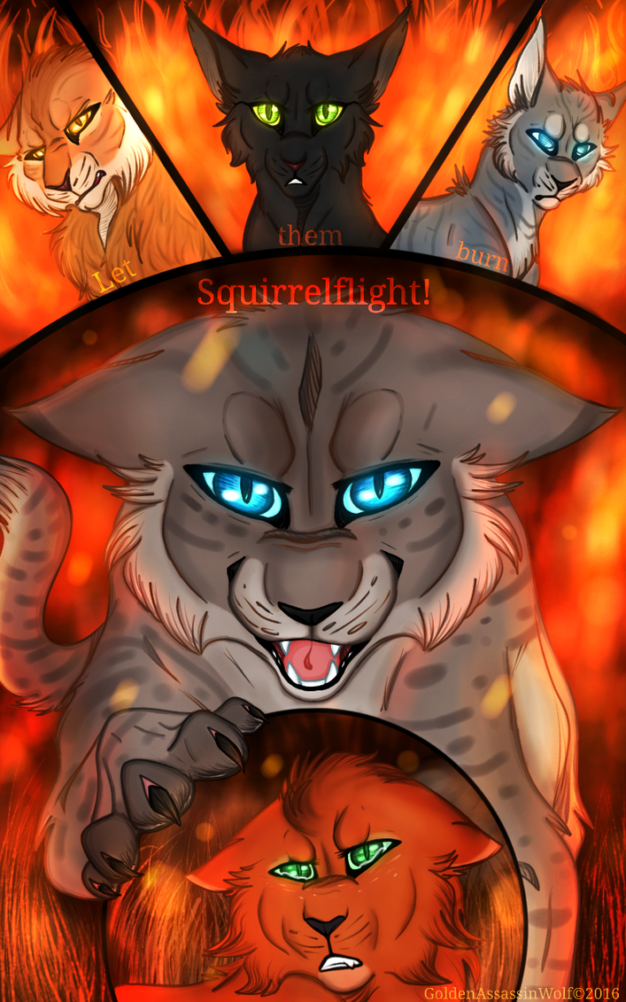 What better punishment then towatch your kits burn by GoldenAssassinWolf