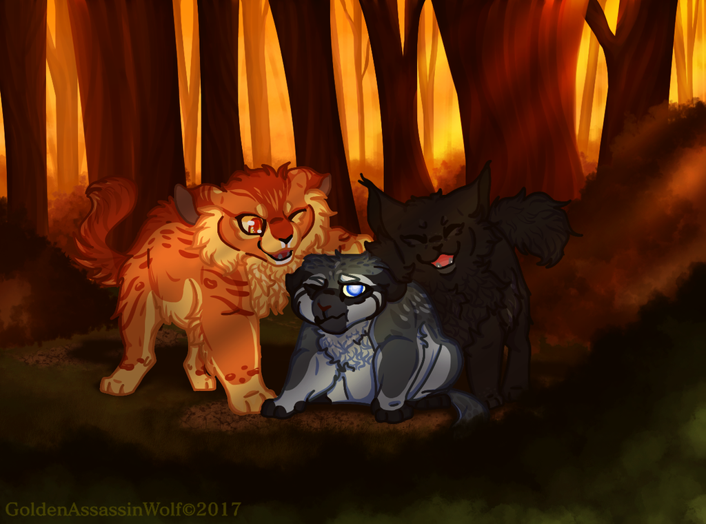 We'll never leave your side little bro by GoldenAssassinWolf