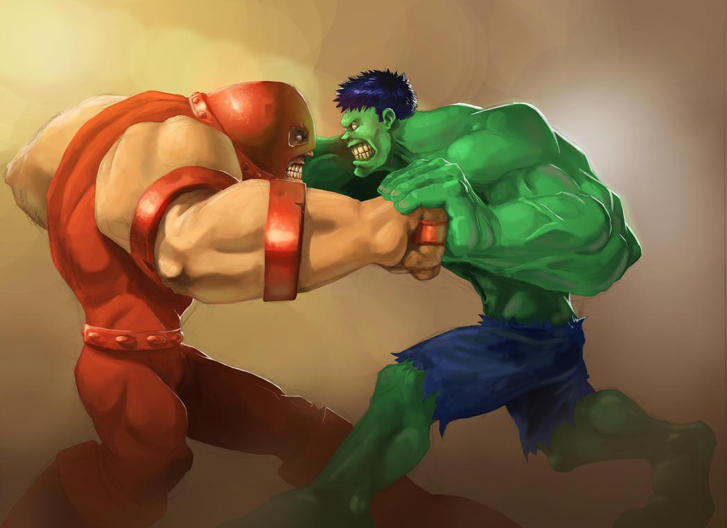 Hulk Vs Juggernaut by wolf166
