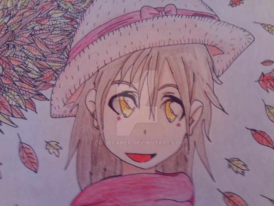 Anime Fall Girl by CutieCakex