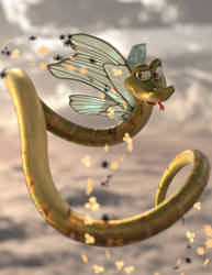 Butterfly Naga by spearcarrier
