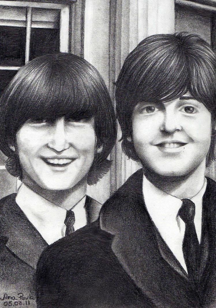 John Lennon And Paul McCartney By Newperpective