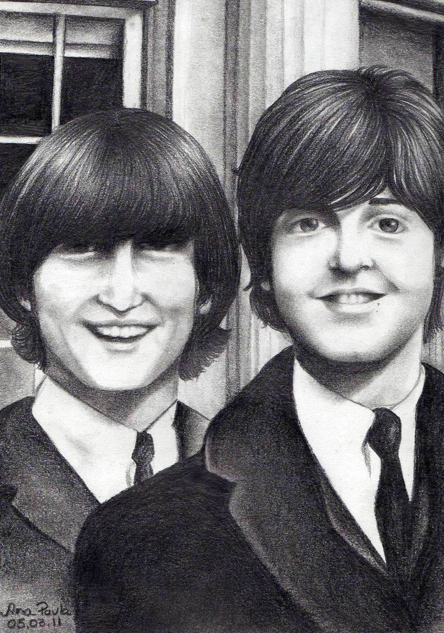 John Lennon And Paul McCartney By Newperpective