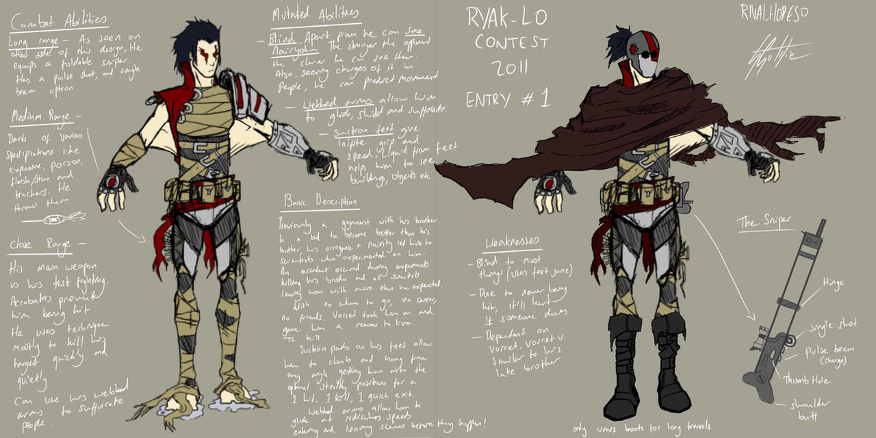 Anime Character Design Contest : Ryak lo mutant character design contest by rivalhopeso on