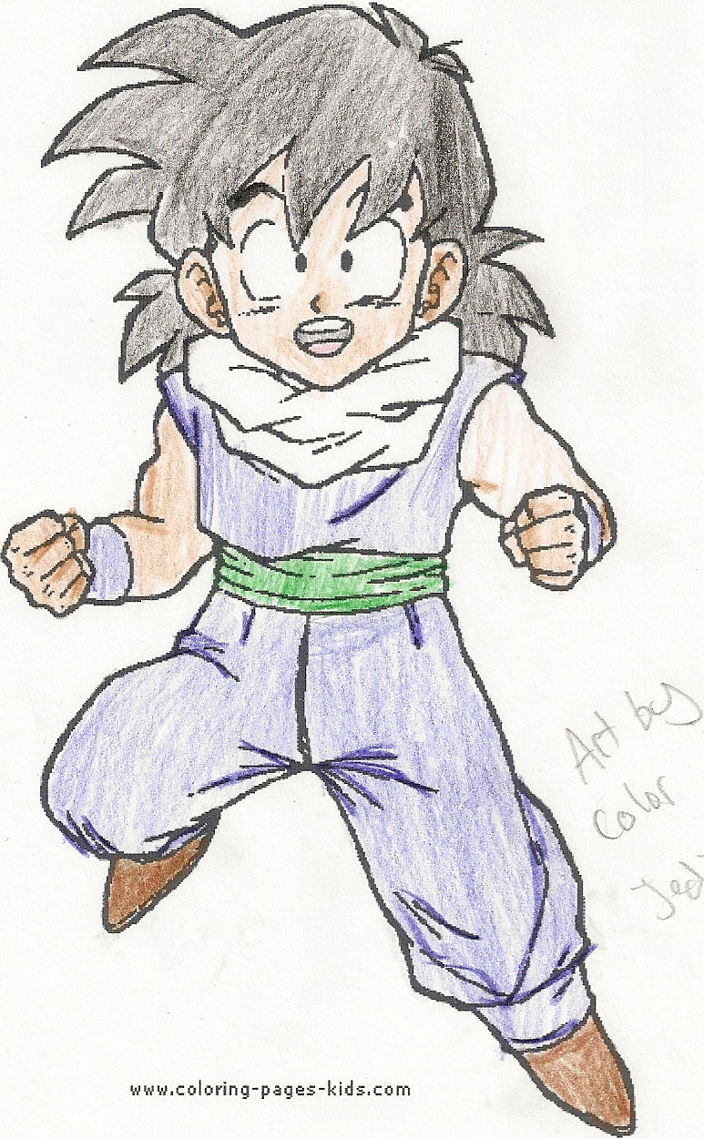 Gohan Coloring Page Colored By Jedipizzadude