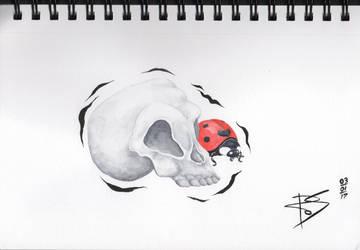 Skull and Ladybird