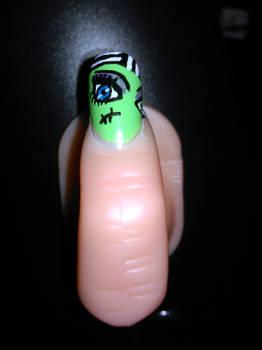 Frankie Stein Themed Nail