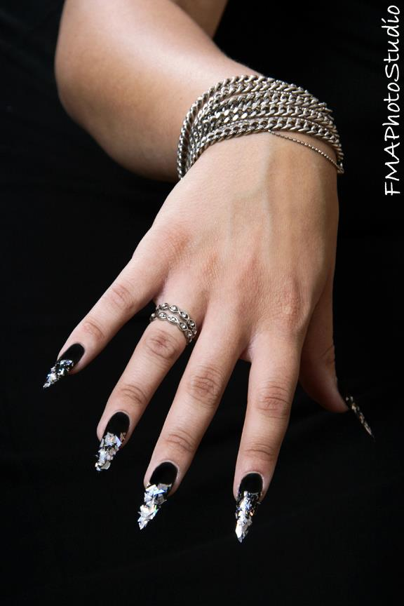 Dark Angel Photo Shoot Nails 1 by TheeDarkestAngel