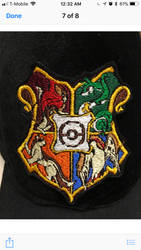 Embroidered Hogwarts/Pokmon crest patch by chotii