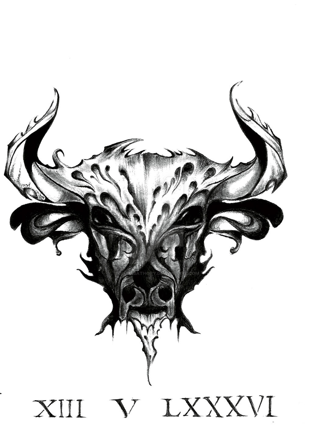 taurus sign tattoo design by dianabathory on deviantart. Black Bedroom Furniture Sets. Home Design Ideas
