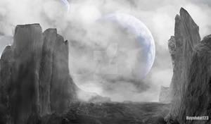Alien landscape digital art