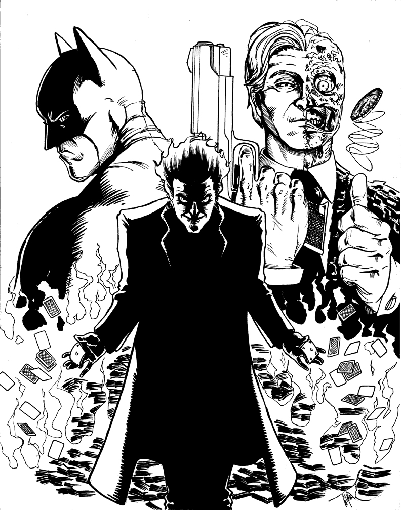 Batman dark knight coloring pages - Dark Knight Tribute By Peetietang