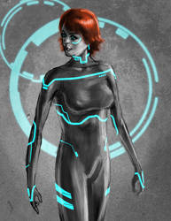 Not-Tron Lady speed painting by peetietang