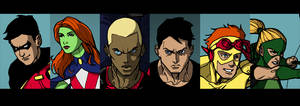 Young Justice face details